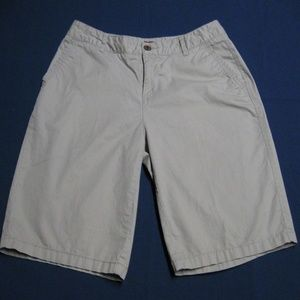 Bermuda Shorts-Sz 4-Beige -100% Cotton